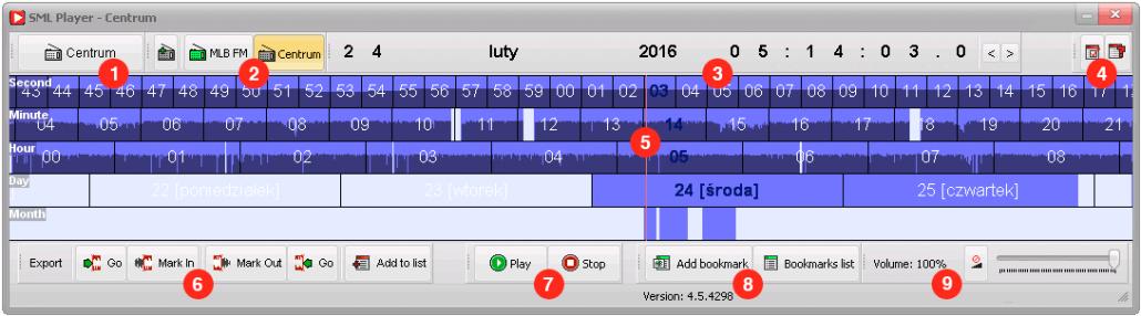 SML Player - okno główne